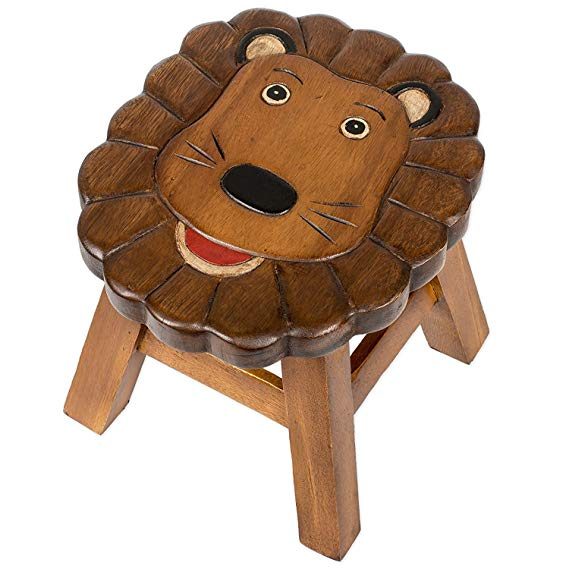 Miraculous Lennard The Lion Handcrafted Wood Stool Footstool For Children Beatyapartments Chair Design Images Beatyapartmentscom