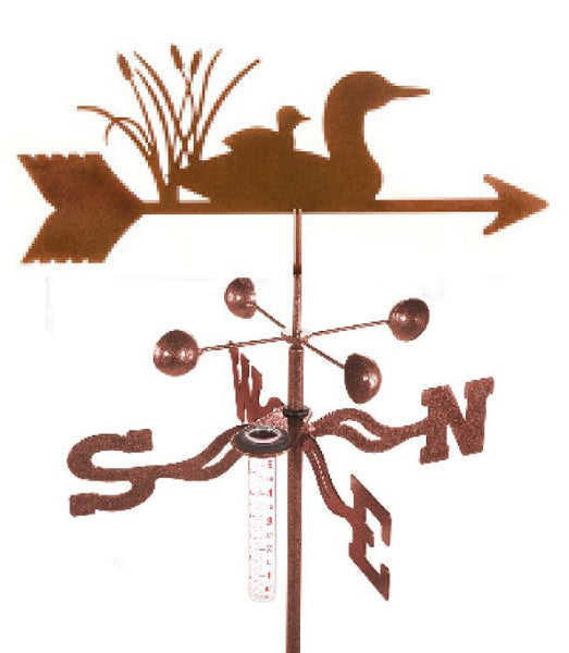 Combine function and yard art with our Loon Rain Gauge Garden Stake Weathervane