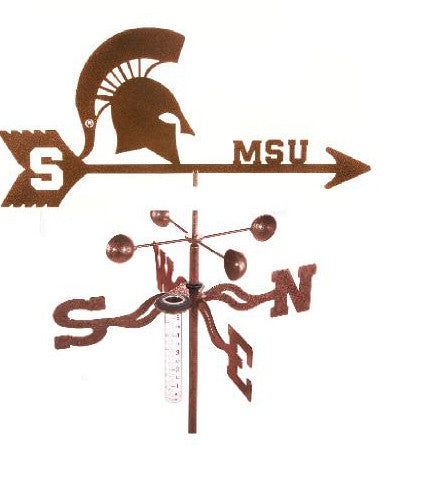 Michigan State Spartans Rain Gauge Garden Stake Weathervane - inthegardenandmore.com