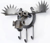 Moose and Recycled Scrap Metal Wall Key Holder