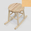Our color sample of natural stain finish on our Handcrafted Wood Rocking Garden Stool