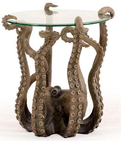 Fun and expressive is our Octopus Indoor Outdoor Accent Side Table