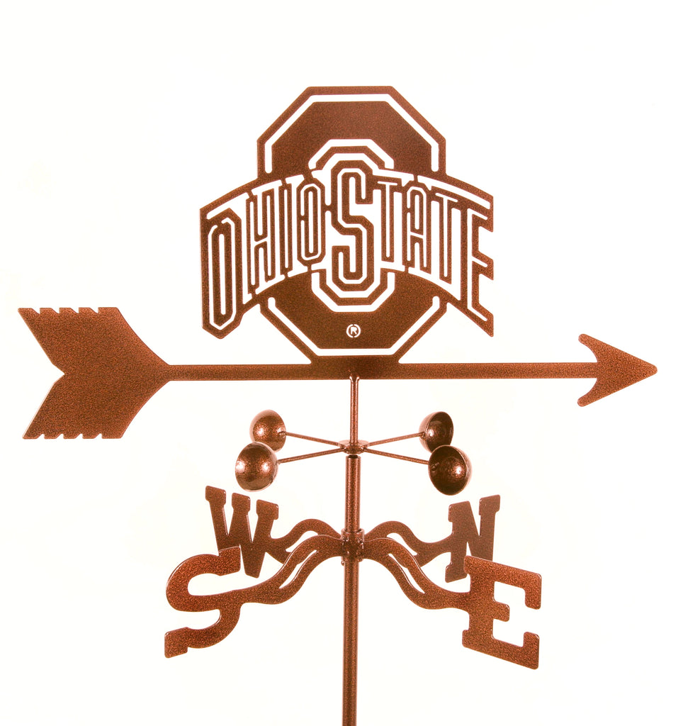 Show your team support with our Ohio State Collegiate Rain Gauge Garden Stake Weathervane