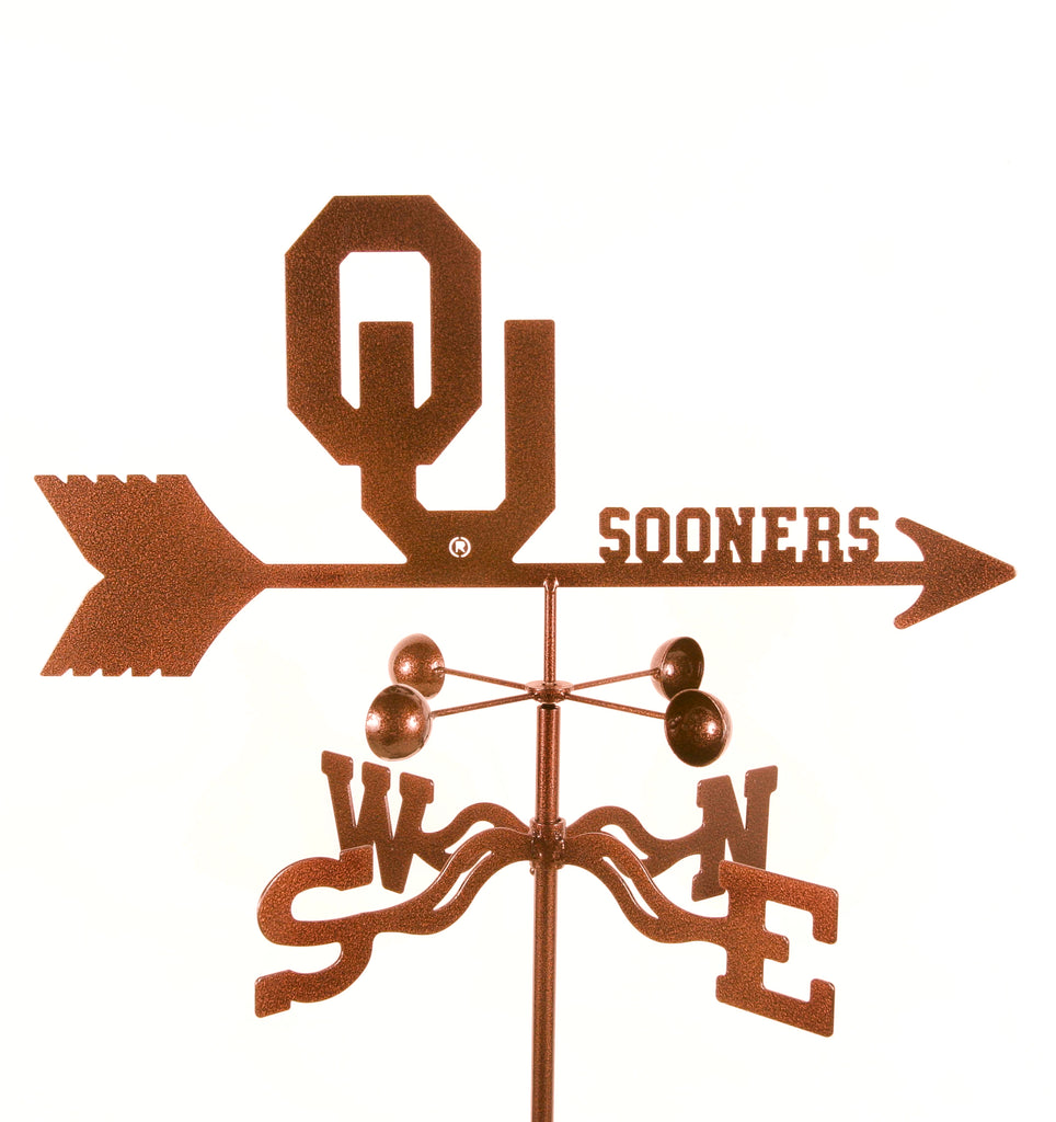 Show your team support with our Oklahoma University Sooners Collegiate Rain Gauge Garden Stake Weathervane