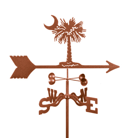 Combine function and yard art with our Palmetto (South Carolina) Rain Gauge Garden Stake Weathervane