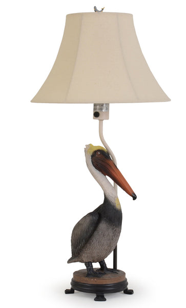 Unique and beautiful is our Pelican Indoor Outdoor Table Lamp