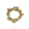 Our Prickly Pear Cactus Handcrafted Metal Front Door Wreath can be used year round