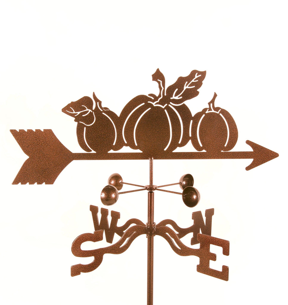 Add function and decoration to your garden with our Pumpkins Rain Gauge Garden Stake Weathervane