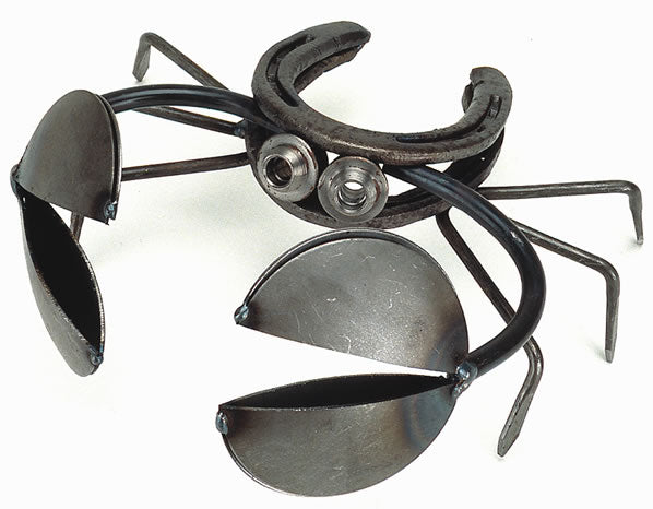 This is our larger version, Recycled Scrap Metal Horseshoe Crab Sculpture - small, sold separately