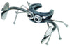 Handcrafted in the USA, our Recycled Scrap Metal Horseshoe Crab Sculpture - Small is fun and expressive.