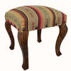 "Our Red River Rock Serape Striped Upholstered Fabric Square Stool Bench (18"") is great for in home use and handcrafted in the USA"
