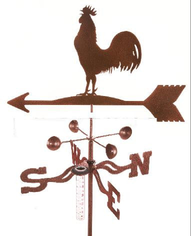 Combine function and yard art with our Rooster Rain Gauge Garden Stake Weathervane