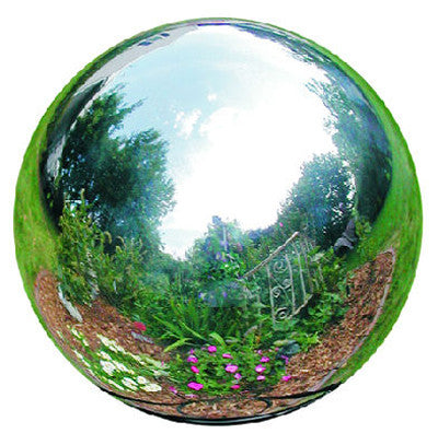 6 Inch Silver Stainless Steel Gazing Globe