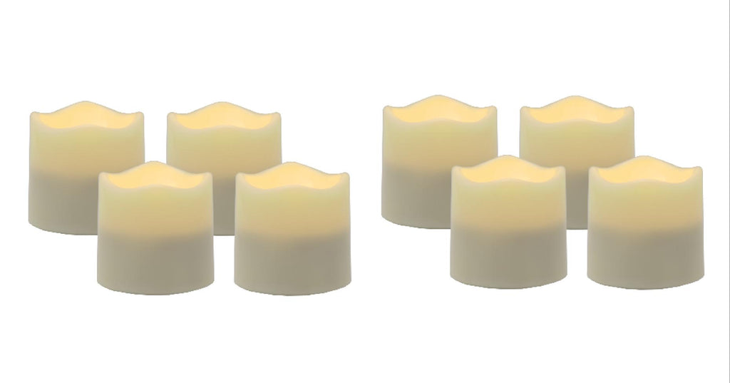 Flameless LED Tea Light Candles with Timer (Set of 8) - great for indoor and outdoor use