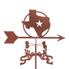 Combine function and yard art with our Texas Lone Star State Rain Gauge Garden Stake Weathervane