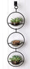 Double Metal and Glass Hanging Wall Terrarium / Candle Holder
