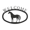 Welcome Sign With Horse Silhouette