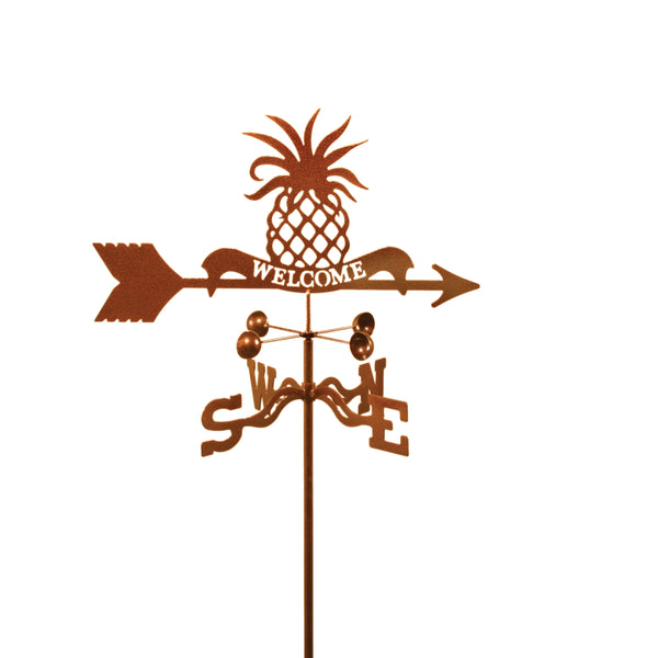 Combine function and yard art with our Welcome Pineapple Rain Gauge Garden Stake Weathervane