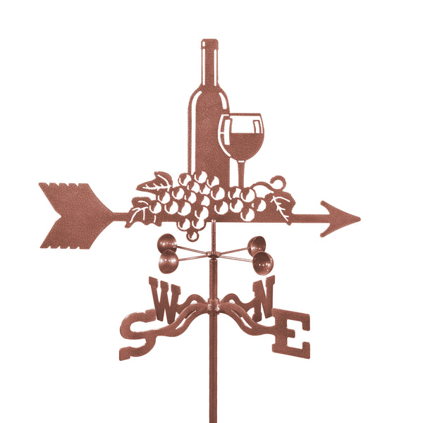 Combine function and yard art with our Wine Inspired Rain Gauge Garden Stake Weathervane