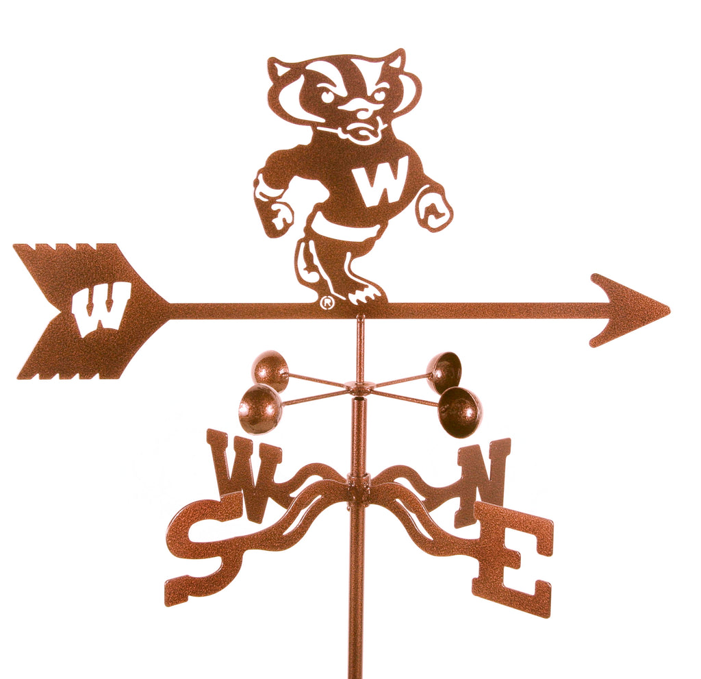 Show your team support with our Wisconsin Badgers Collegiate Rain Gauge Garden Stake Weathervane