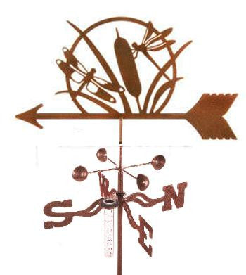 Combine function and yard art with our Dragonfly Rain Gauge Garden Stake Weathervane