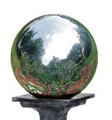 "This 6"" in diameter stainless steel silver gazing globe reflects the beauty of your garden all year long."