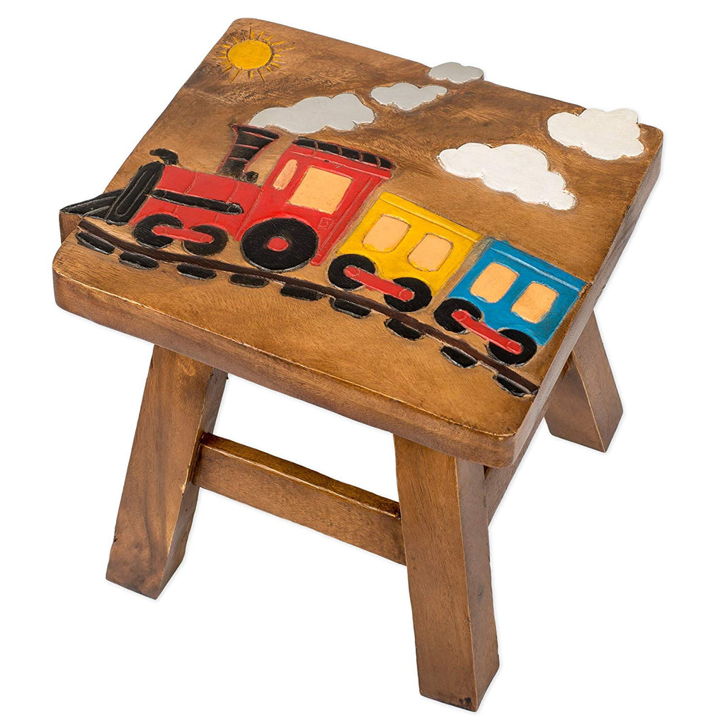 Toby the Train Handcrafted Wood Stool Footstool for Children