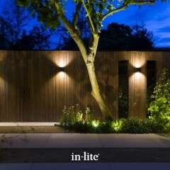 12v outdoor wall lights up-down lighting effects in garden