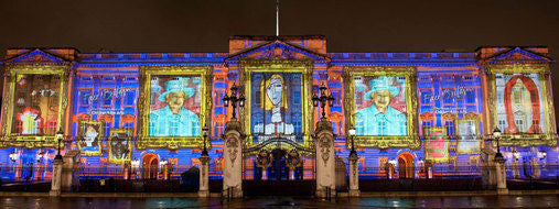 Buckingham Palace Diamond Illuminations 2012