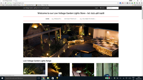 Image of new 12vgardenlights.com website