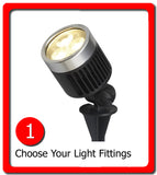 low voltage garden lighting - choose your light fittings