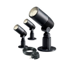 Low Voltage Garden Lights,  Techmar ALDER 12v LED 3 Low Voltage Garden Spotlights, cable and transformer