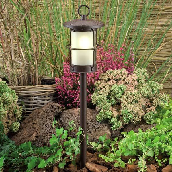Low Voltage Garden Lights,  Techmar LOCOS 12v LED Post Light in border