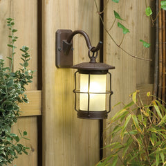 Low Voltage Garden Lights,  Techmar CALLISTO 12v LED Garden Wall Light Mounted to Fence