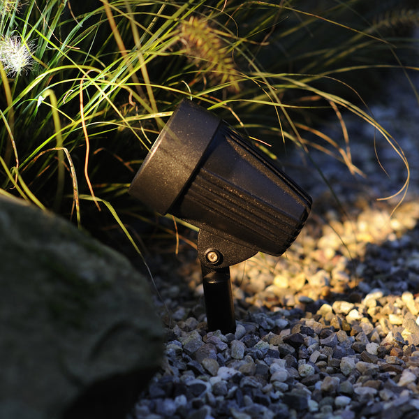 Low Voltage Garden Lights,  Techmar CORVUS 12v LED Low Voltage Garden Spotlight - 'All Inclusive Starter Set' - 4 spotlights (optional remote) - Starter Sets - TECHMAR original product - 2