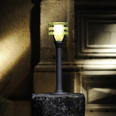 Low Voltage Garden Lights,  Techmar VITEX 12v LED Outdoor Post Light on plinth