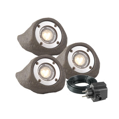 Low Voltage Garden Lights,  Techmar LAPIS 12v LED Low Voltage Garden Spotlight - 'All Inclusive Starter Set' - 3 spotlights (IP68) - Spotlights - TECHMAR original product - 1