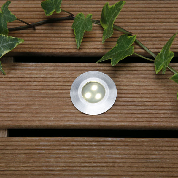 Techmar ALPHA 12v LED mounted in decking