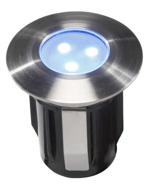 Low Voltage Garden Lights,  Techmar ALPHA 12v Blue LED Low Voltage Outdoor Decking Lights (IP68)