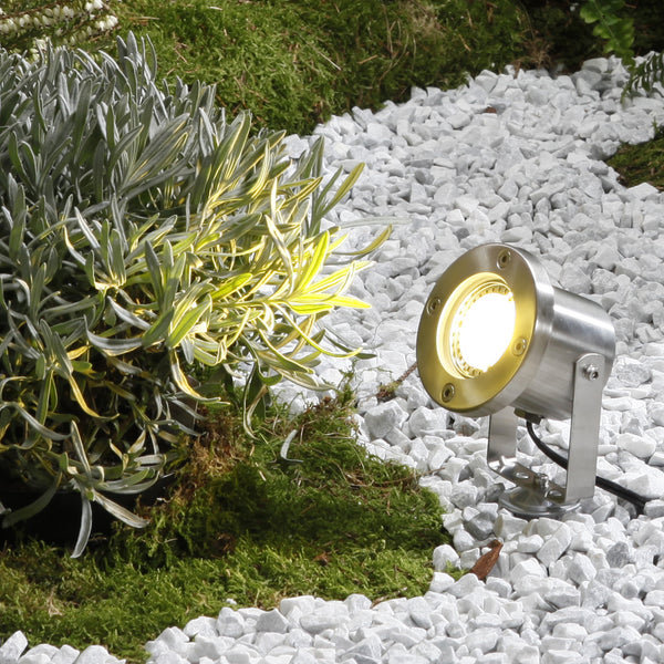 Low Voltage Garden Lights,  Techmar CATALPA 12v LED Garden Spotlight in Gravel Path