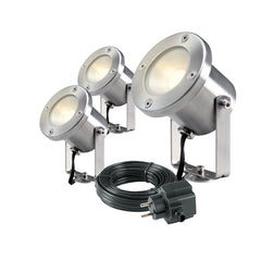 Low Voltage Garden Lights,  Techmar CATALPA 12v LED Low Voltage Garden Spotlight - 'All Inclusive Starter Set' - 3 spotlights - Spotlights - TECHMAR original product - 1