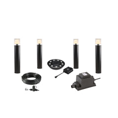 Low Voltage Garden Lights,  Techmar ARCO 40 12v LED Low Voltage Garden Post Light - 'All Inclusive Starter Set' - 4 post lights (optional remote) - Starter Sets - TECHMAR original product - 1