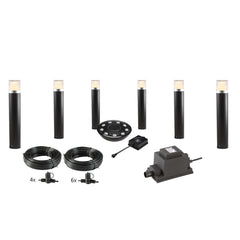 Low Voltage Garden Lights,  Techmar ARCO 40 12v LED Low Voltage Garden Post Light - 'All Inclusive Starter Set' - 6 post lights (optional remote) - Starter Sets - TECHMAR original product - 1
