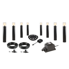 Low Voltage Garden Lights,  Techmar ARCO 40 12v LED Low Voltage Garden Post Light - 'All Inclusive Starter Set' - 8 post lights (optional remote) - Starter Sets - TECHMAR original product - 1