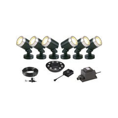 Low Voltage Garden Lights,  Techmar ARCUS 12v LED Low Voltage Garden Spotlight - 'All Inclusive Starter Set' - 6 spotlights (optional remote) - Starter Sets - TECHMAR original product