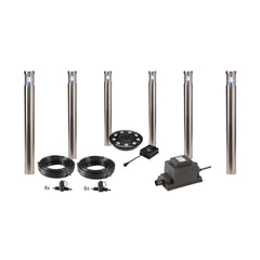 Low Voltage Garden Lights,  Techmar ARGOS 12v LED Low Voltage Garden Post Light - 'All Inclusive Starter Set' - 6 post lights with remote controller - Starter Sets - TECHMAR original product - 1