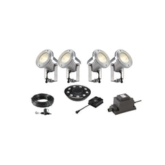 Low Voltage Garden Lights,  Techmar CATALPA 12v LED Low Voltage Garden Spotlight - 'All Inclusive Starter Set' - 4 spotlights (optional remote) - Starter Sets - TECHMAR original product - 1