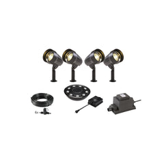 Low Voltage Garden Lights,  Techmar CORVUS 12v LED Low Voltage Garden Spotlight - 'All Inclusive Starter Set' - 4 spotlights (optional remote) - Starter Sets - TECHMAR original product - 1