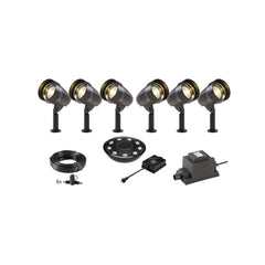Low Voltage Garden Lights,  Techmar CORVUS 12v LED Low Voltage Garden Spotlight - 'All Inclusive Starter Set' - 6 spotlights (optional remote) - Starter Sets - TECHMAR original product - 1