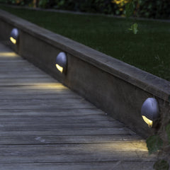 Low Voltage Garden Lights,  Blink wall lights mounted to on sleepers